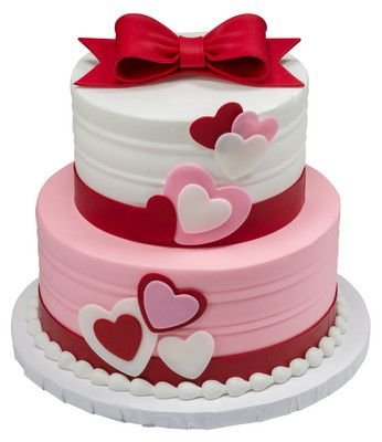 DecoPac's Pre-colored Fondant DecoShapes and printed Gum Paste Bows will make any Valentine's cake be extra special.