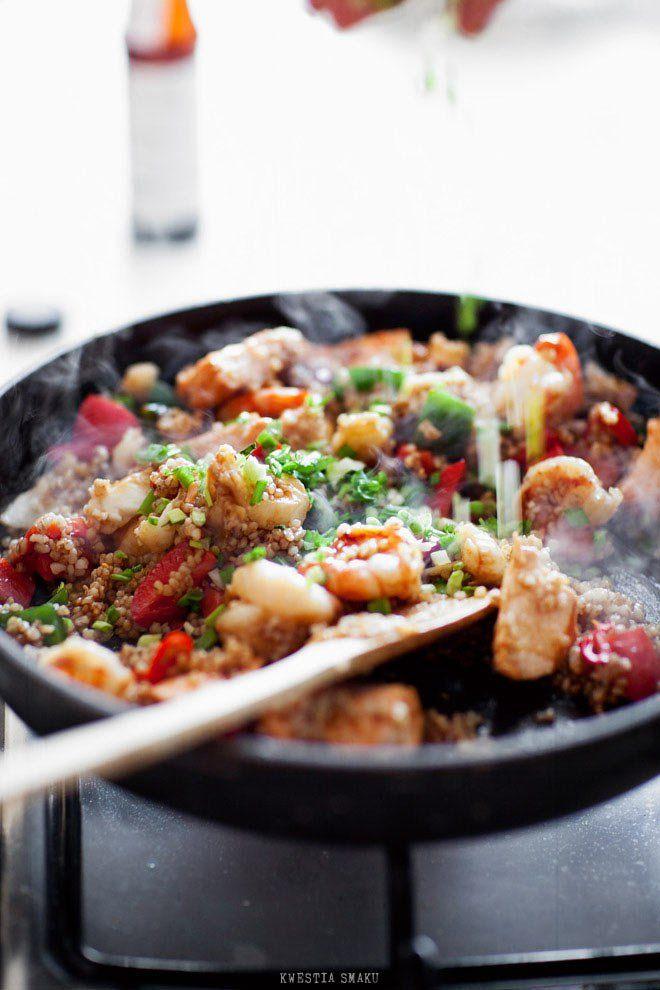 Stir-fry z kaszą jęczmienną