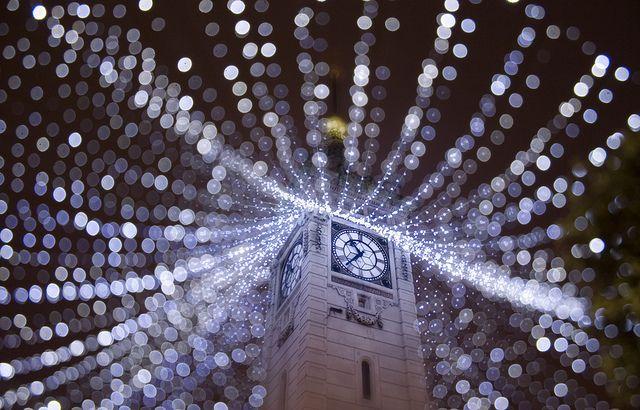 Bokeh Christmas, Holiday Lights, Christmas Lights, Beautiful Bokeh, Brighton Clocks, Christmas Image, Digital Photography, Clocks Towers, Photography Tutorials