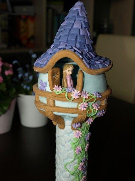 how to make tangled tower cake