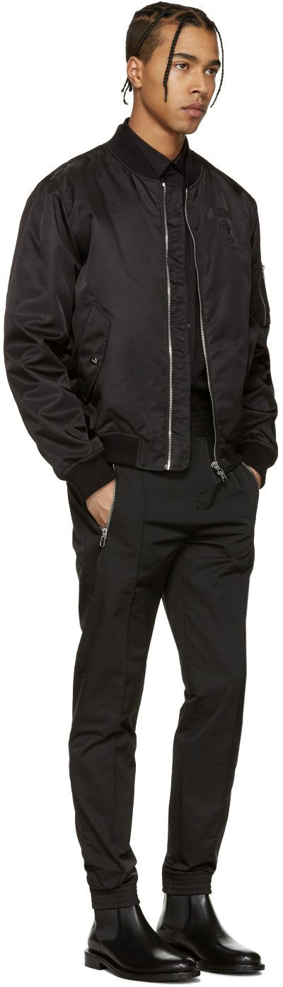 Moschino - Black Nylon Bomber Jacket