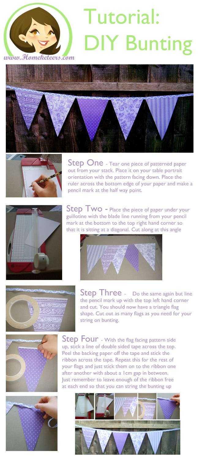 DIY Bunting - great for Birthday's Weddings and Parties!