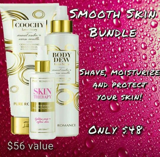 Smooth skin bundle. Email me at prbyrachelnc@gmail.com or join my Facebook group Pure Romance by Rachel Nicholson-Core.