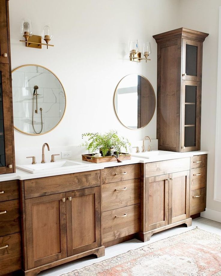 With Large Mirror Bathroom Decor Bathrooms Remodel Home