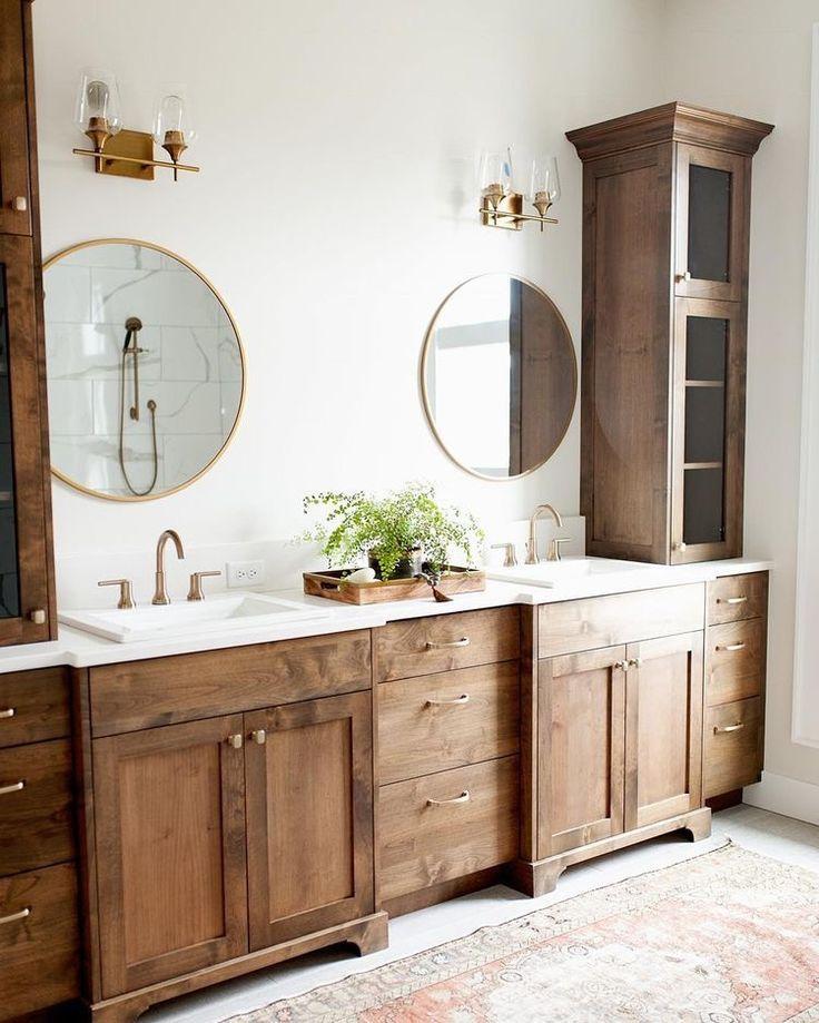 Beautiful Natural Wood Bathroom Vanity Bathroom Decor Bathrooms Remodel Home