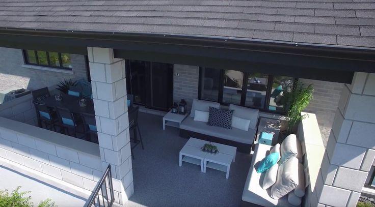 Magnifique terrasse extérieure dans la région de Montréal faite par notre équipe d'experts.