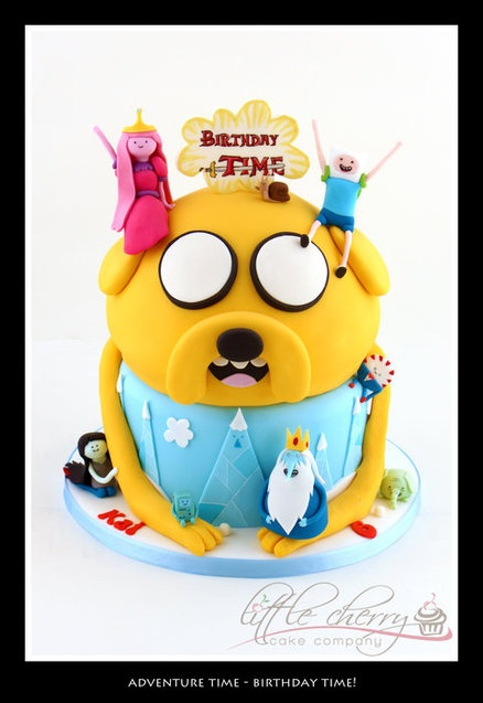 Adventure Time Cake - Birthday Time! - by littlecherry @ CakesDecor.com - cake decorating website