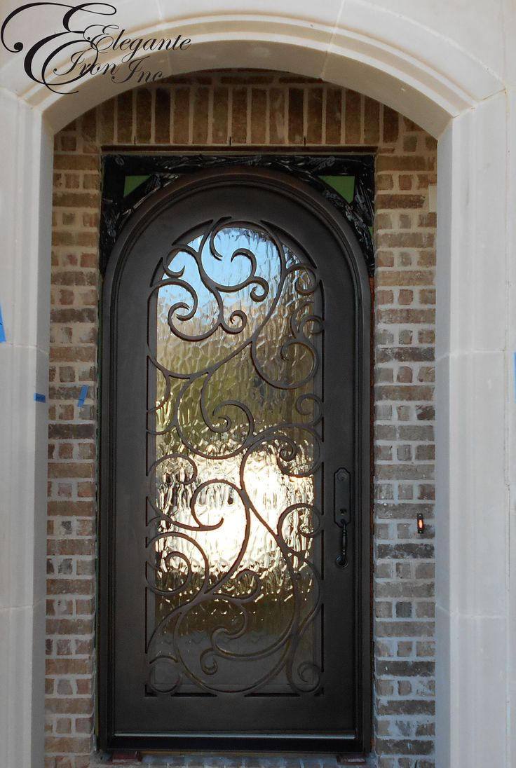 Front doors with glass and iron - Custom Wrought Iron Front Door