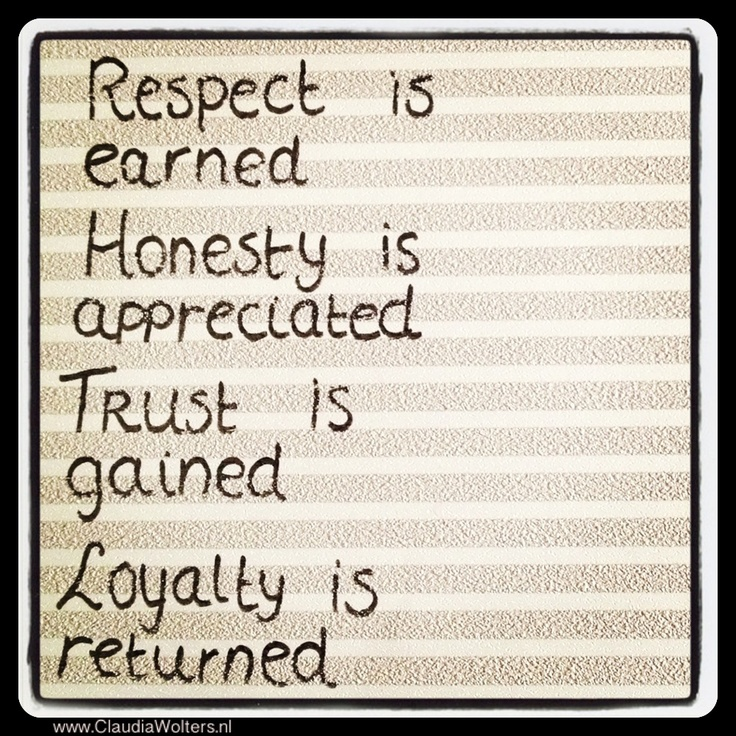 Quotes About Honesty And Friendship: Respect, Trust, Honesty & Loyalty