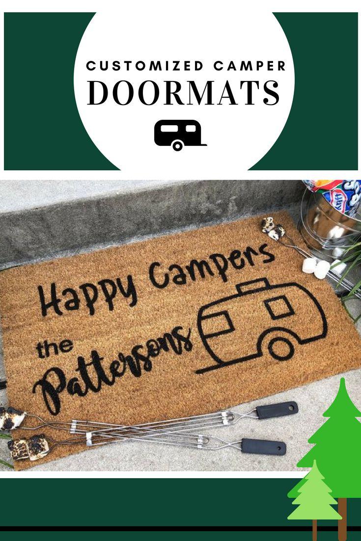 Door Personalized Mats Campers Happy