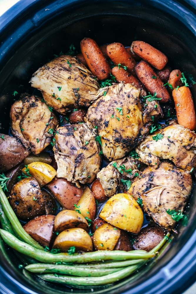Slow Cooker Brown Sugar Balsamic Chicken and Vegetables is a fantastic meal with tender and juicy chicken with a delicious ...