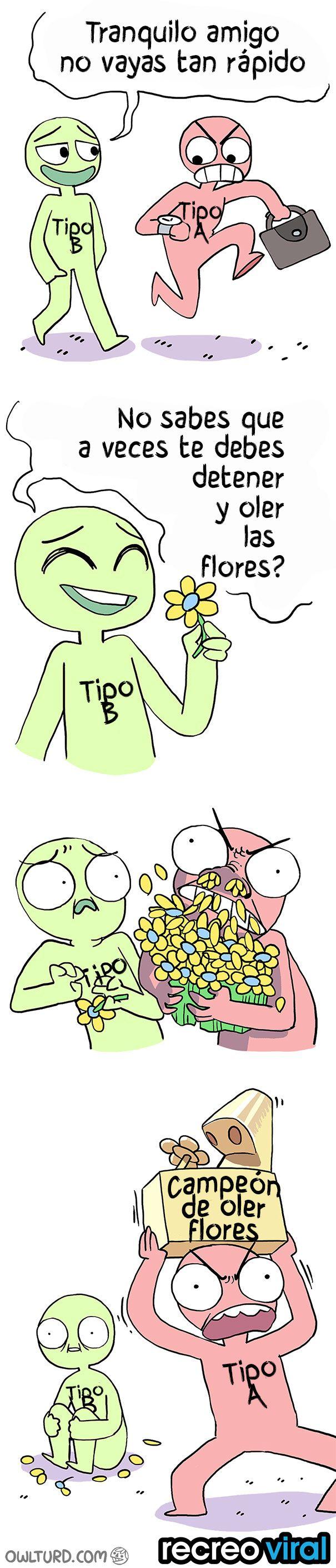 comic oler las flores
