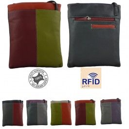 Genuine Leather Womens Cross Body Sling Bag Handbag Stylish RFID Protected Multi Colours 134