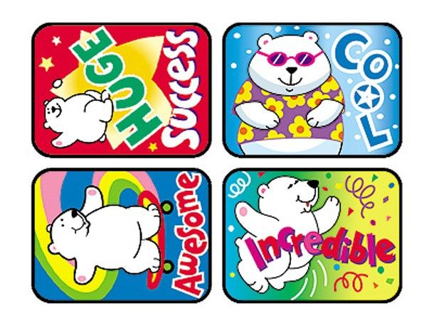 TREND 100 Large Polar Power Applause reward stickers - Sticker Stocker