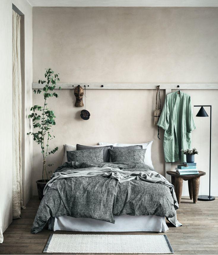 Sovrum i vårens färg grönt och lista över fina köp