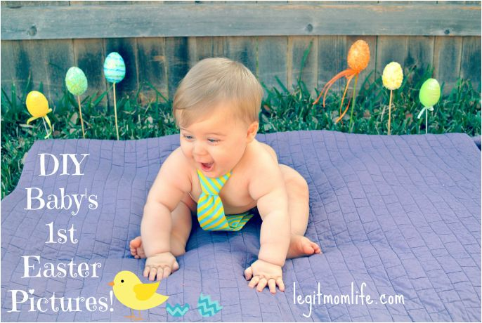 DIY Baby's First Easter Pictures!  Super easy and fun!  Memories that will last … – Legit Mom Life