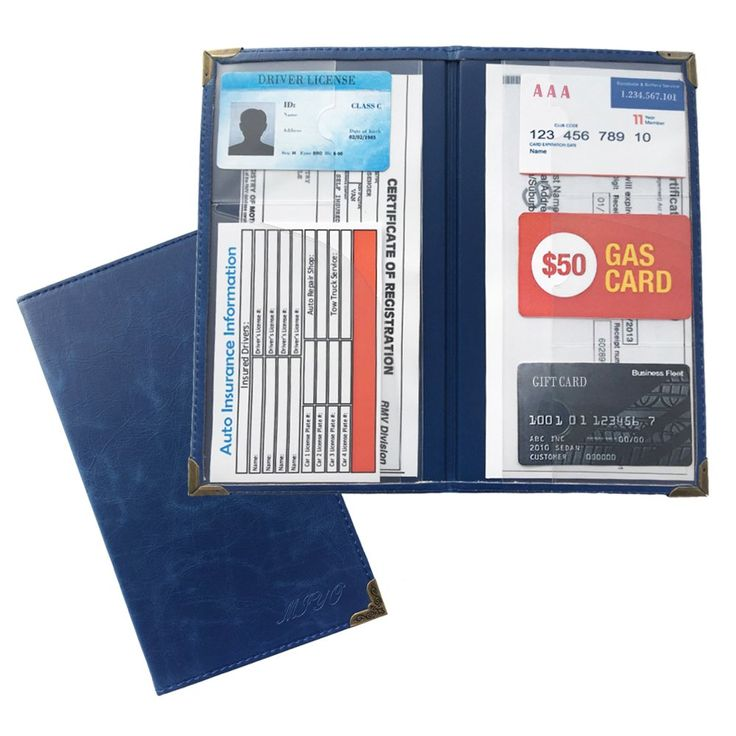MIYO Car Registration Holder for Car Insurance Card and ...