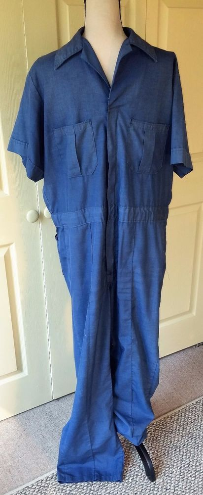 Walls VTG Men's Coveralls Jumpsuit One Pc~Sz 44 Tall~Navy Blue~Work Mechanic | Clothing, Shoes & Accessories, Vintage, Men's Vintage Clothing | eBay!