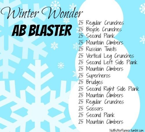 Winter Wonder Ab Blaster #FitFluential