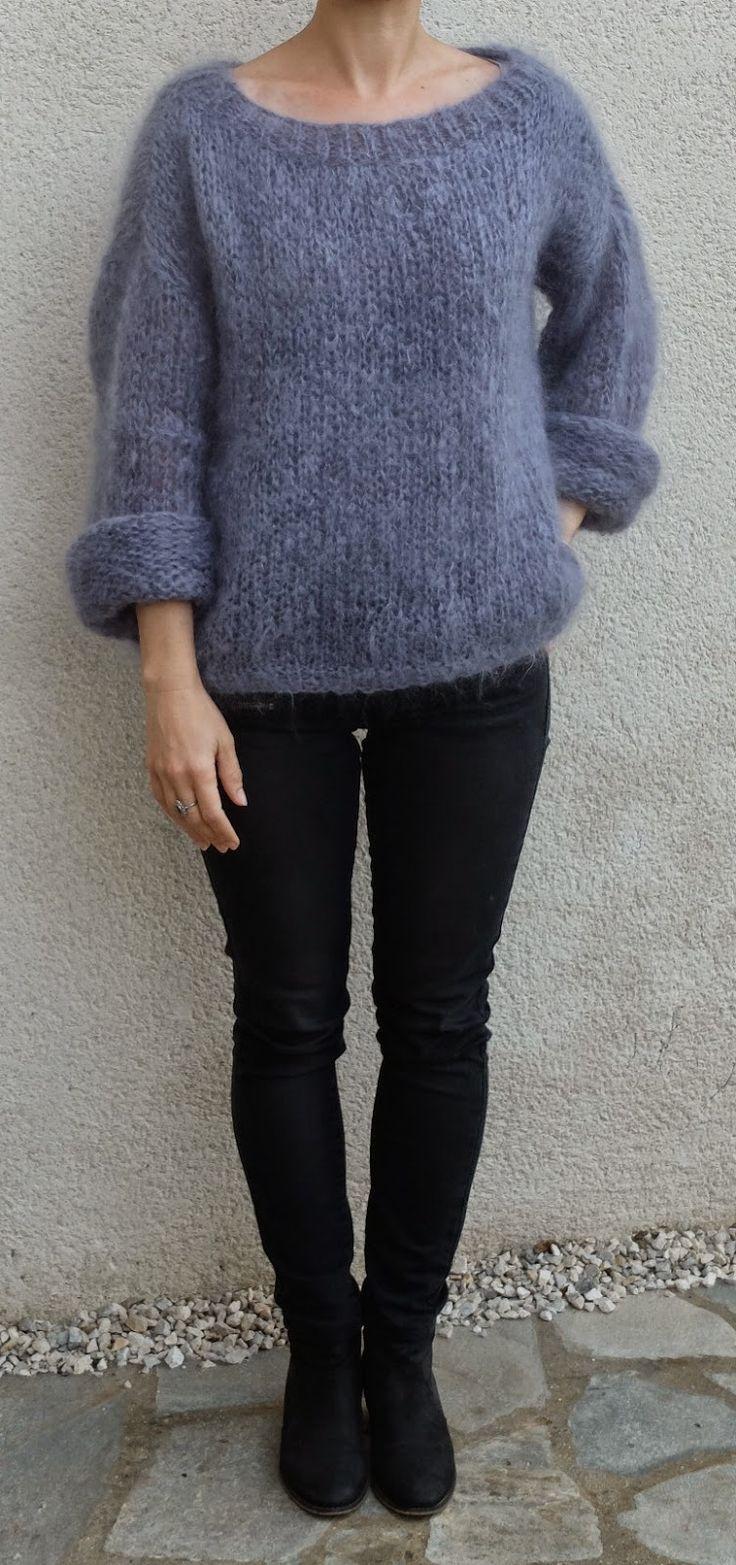 Je le veux comme j'aime, alors j'invente en fonction de la laine et de la grosseur des aiguilles en sachant que Tricolyne n'est pas ...
