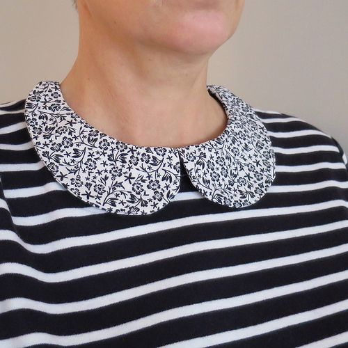 How to Add a Peter Pan Collar to a T-Shirt by @Kathy Lewinski   Supplies available at Joann.com or your local Jo-Ann Fabric and Craft Store   #craftmonthlove