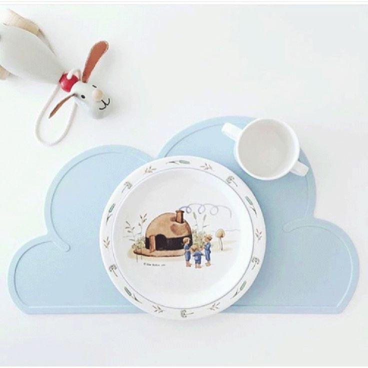 Placemat wolk blauw