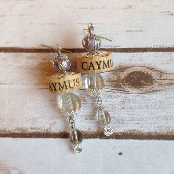 Caymus Wine Cork Earrings by TrueVineGifts on Etsy