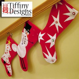 3 Extra Large Christmas Stockings | Sewing Pattern | YouCanMakeThis.com