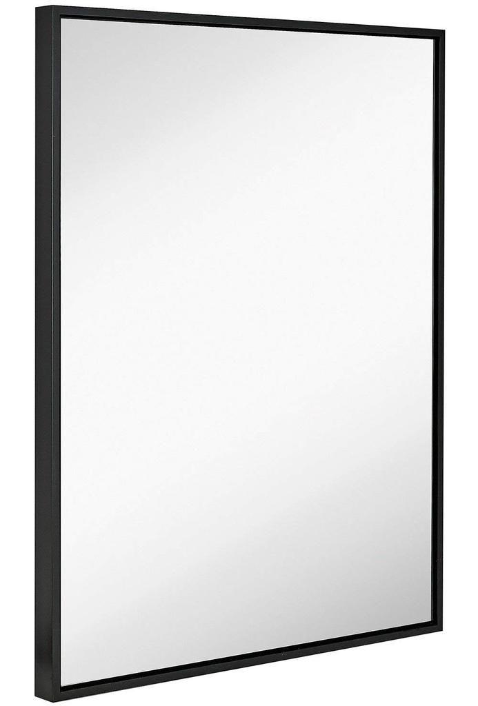 Large Modern Black Frame Wall Mirror, 30 X 40 Framed Bathroom Mirror
