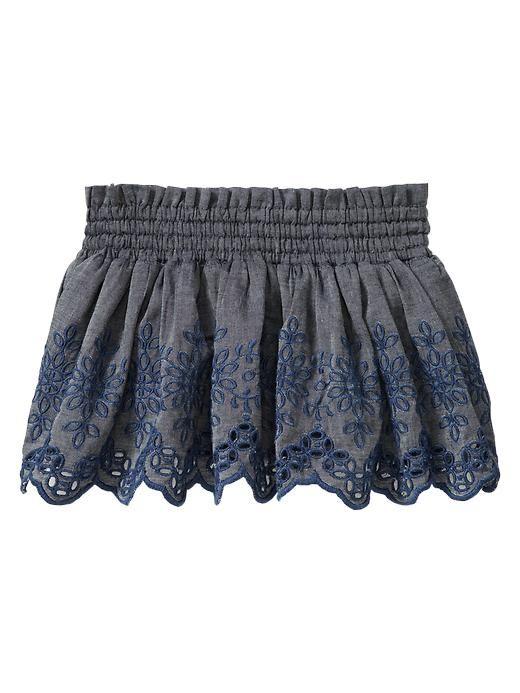 Gap   Embroidered chambray skirt_saia_bordado_ingles