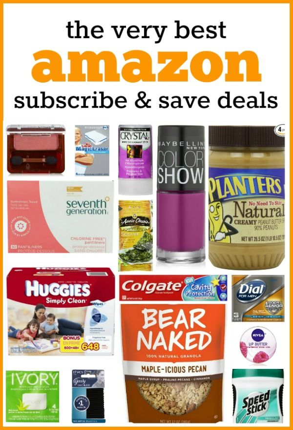 The best Amazon Subscribe & Save Deals -- this list is updated several times a week, so pin it for when you're ready to bump your S&S order up to 5 to save the full 20%!