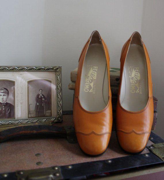 Vintage Ferragamo Wingtip Heel Telling a story.