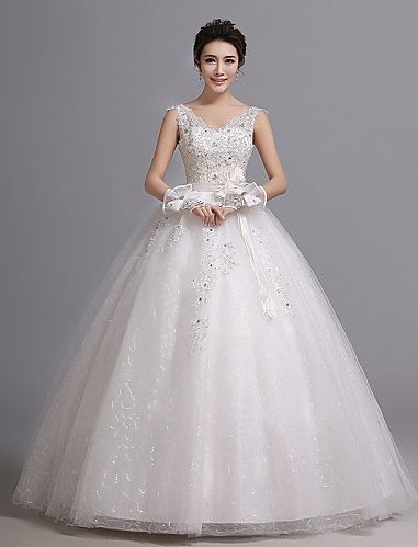 Ball Gown Sweetheart Court Train Tulle And Stretch Satin Wedding Dress Easebuy! Free Measurement!
