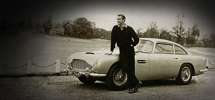 "Aston Martin Heritage. The iconic DB5, James Bond's car of choice in the classic film ""Goldfinger"""