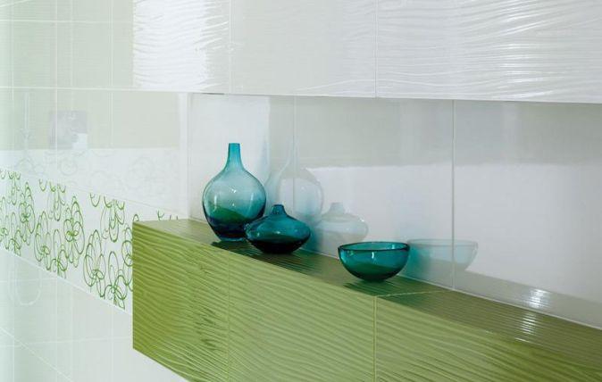 aranzacja bialo zielonej lazienki vivida vivido ceramika paradyz