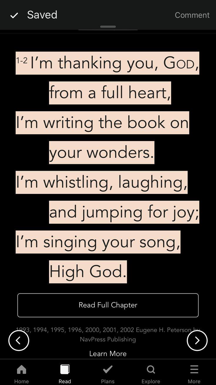 MSG psalm 9:1-2