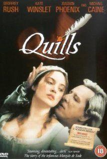 Quills (2000)Movie Posters, Geoffrey Rush, Joaquin Phoenix, Quilling 2000, Kate Winslet, Watches Movie, De Sade, Favorite Movie, Marquis De