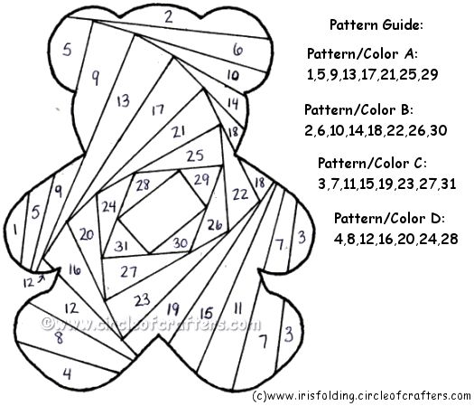 Google Image Result for http://www.circleofcrafters.com/irisfolding/teddybearpattern.gif