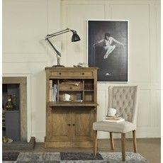 San Agosto Spruce Wood Harriett Upholstered Dining Chair