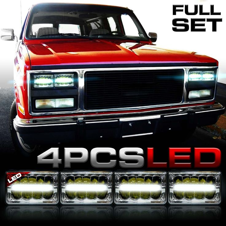 H6014 H6052 H4651 H4642 LED Headlights Fits Chevy Surburban such as 1991