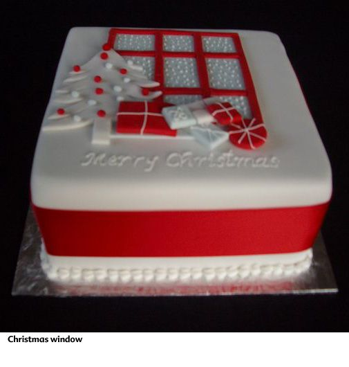 Rectangular Cake Decoration Ideas : Christmas cake idea Check more at http://hrenoten.com ...