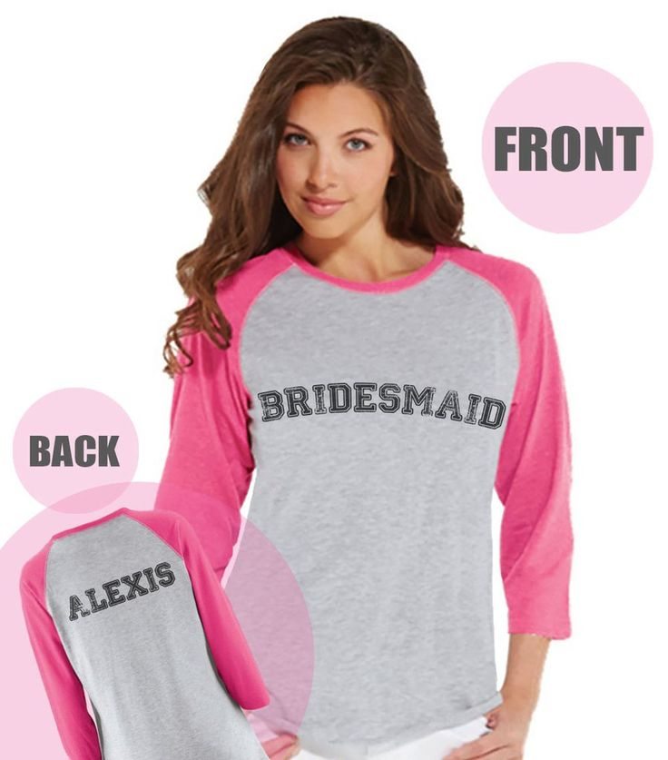 Bridesmaid Baseball Shirts - Personalized Shirt - Wedding T-shirt - Pink Raglan Tee - Bachelorette Top - Bridal Party - Final Fling