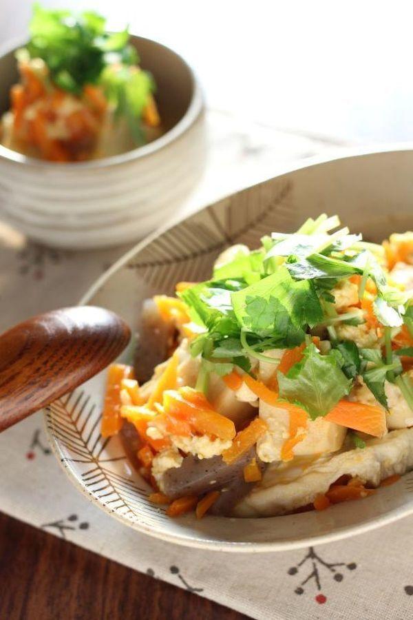 こうや豆腐と人参の卵とじ by かすが きょうこ | レシピサイト「Nadia ...