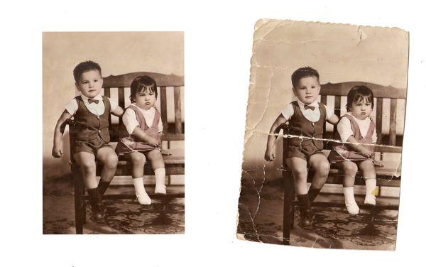 retoque digital on Behance #retoque #photoshop #old #photo #fotografia #antigua #digital #faco