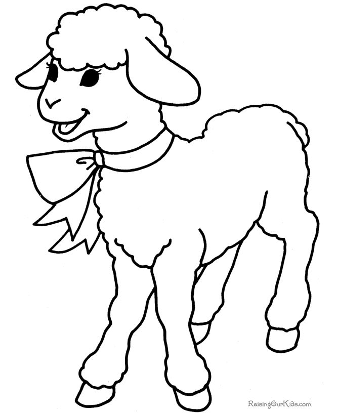 free printable easter coloring pages of lambs easter lamb to color - Lamb Coloring Page
