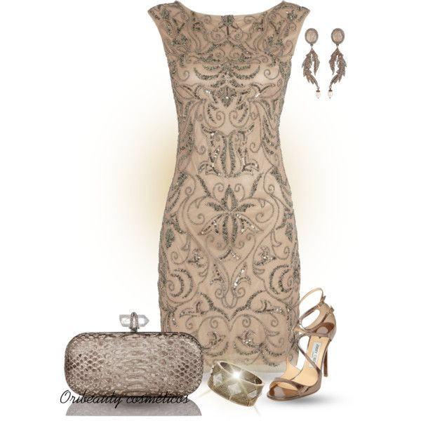 """""""Bronze Dress"""" by oribeauty-cosmeticos on Polyvore"""
