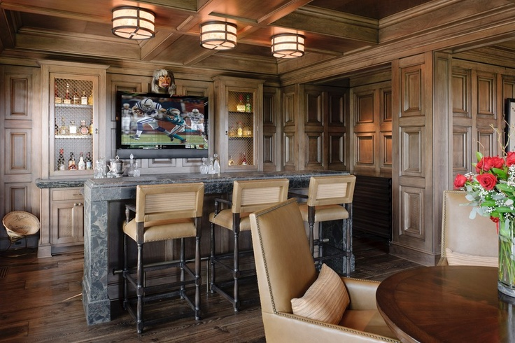 Home Bar With Wood Paneled Walls And An Old World Feel Discovered On