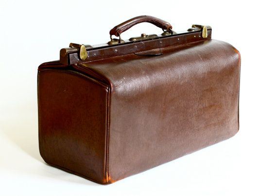 Large Leather Gladstone Bag  Victorian Doctor Bag by CrolAndCo, $245.00