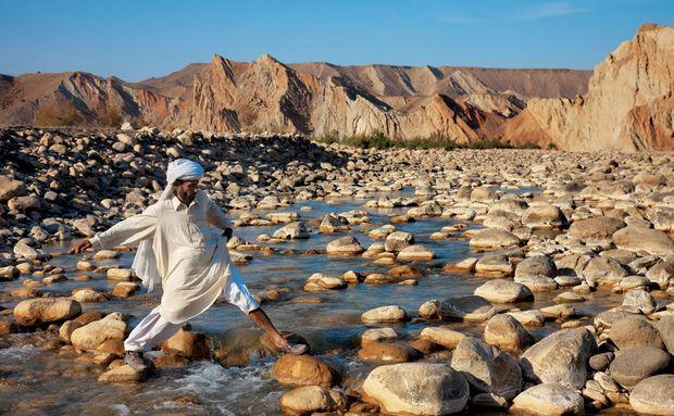 Riacho Pedregoso no Paquistão