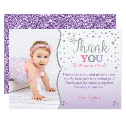 Twinkle Little Star Thank You Card